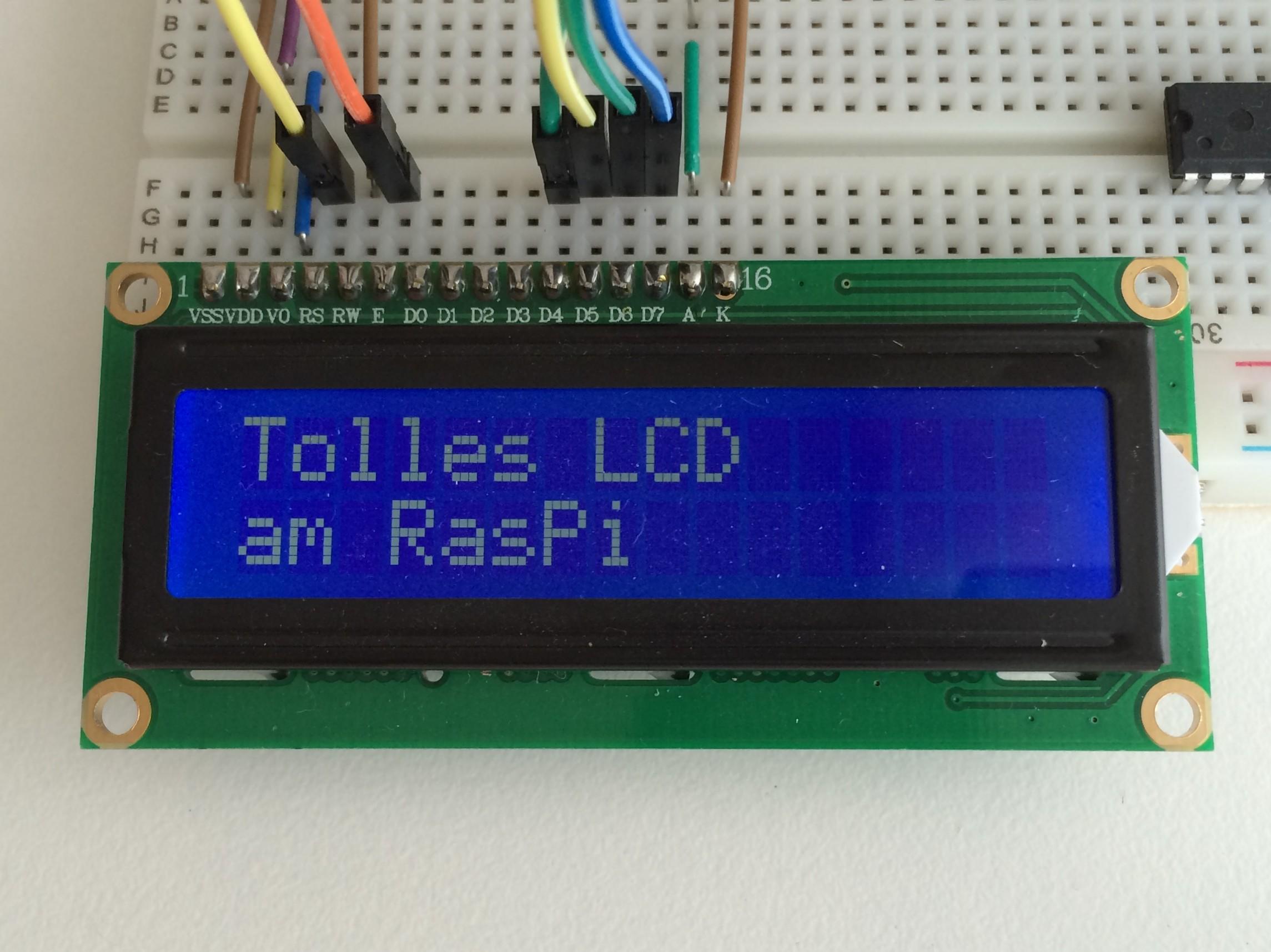 Ein 2 X 16 Zeichen Lcd Mit Den Gpio Pins Programmieren Raspberry Wiringpi I2c